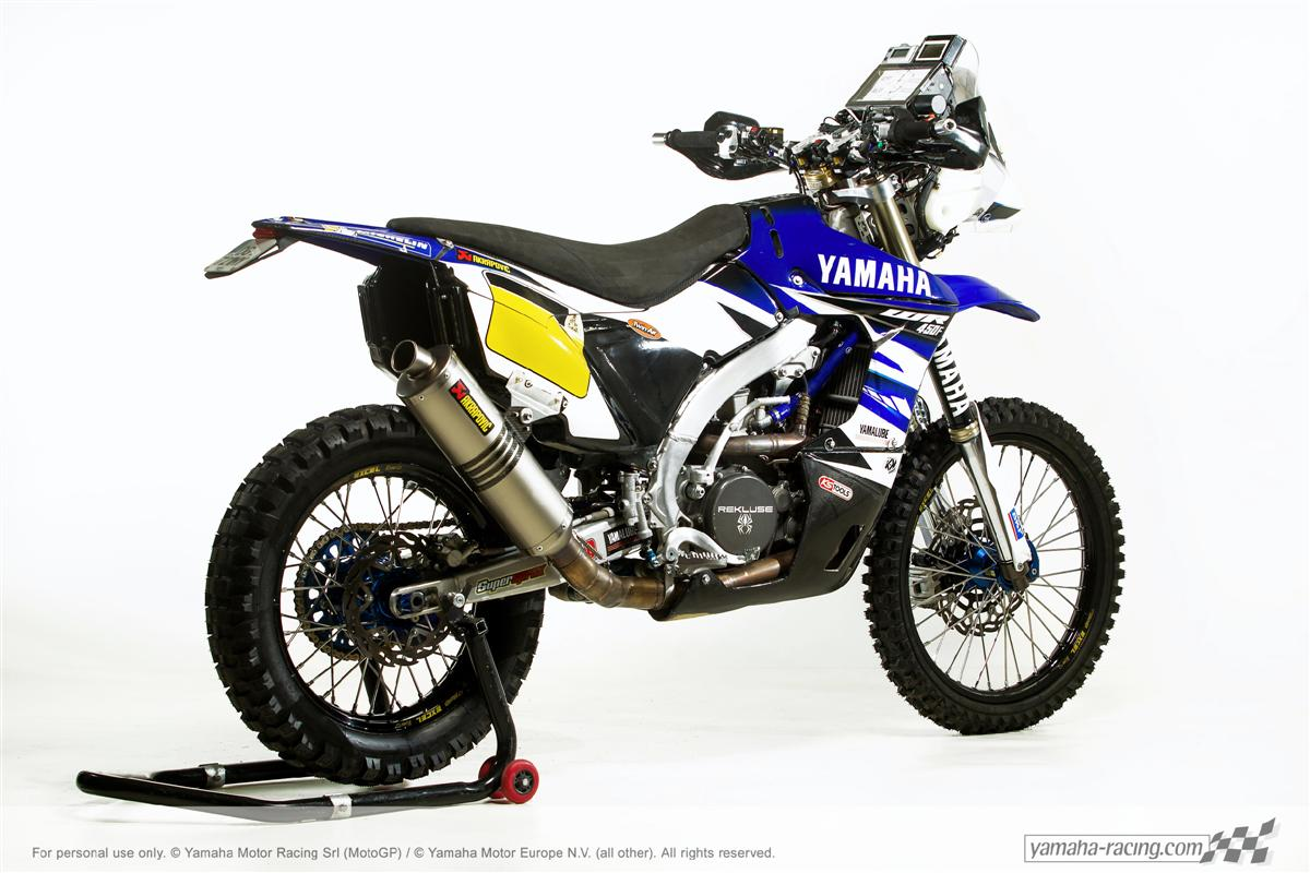 the 2015 yamaha wr450f rally dakar bike unveiled motoroids. Black Bedroom Furniture Sets. Home Design Ideas