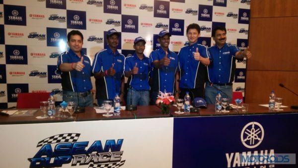 Indian participants at Yamaha ASEAN Race
