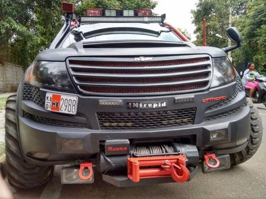 Intrepid a XUV500 based remorseless, unabashed brawn (5)