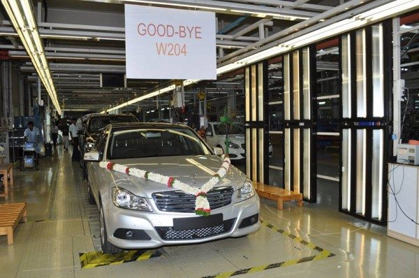 Mercedes Benz India stops production of the W204 C Class (6)