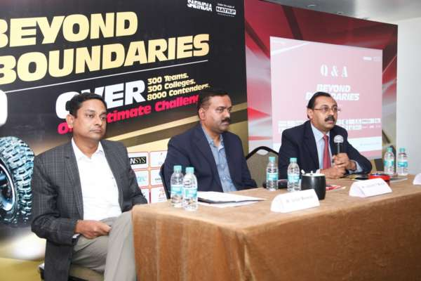 Organizing Commitee of Mahindra presents BAJA SAEINDIA 2015 at the announcement press conference in Pune