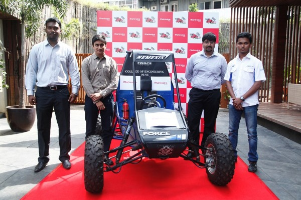 Participating team at the announcement of Mahindra presents BAJA SAEINDIA 2015 in Pune