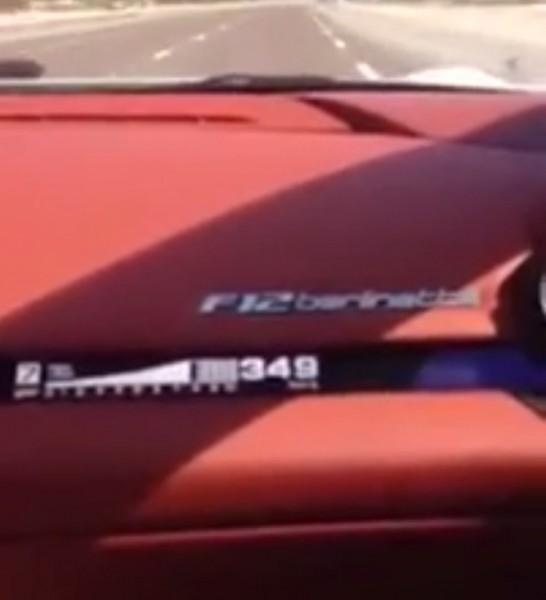 Sebatian Vettel 350 Kmh F12 berlinetta