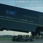 VIDEO: Watch a Semi-Truck Jump Over a Speeding Lotus F1 Car!