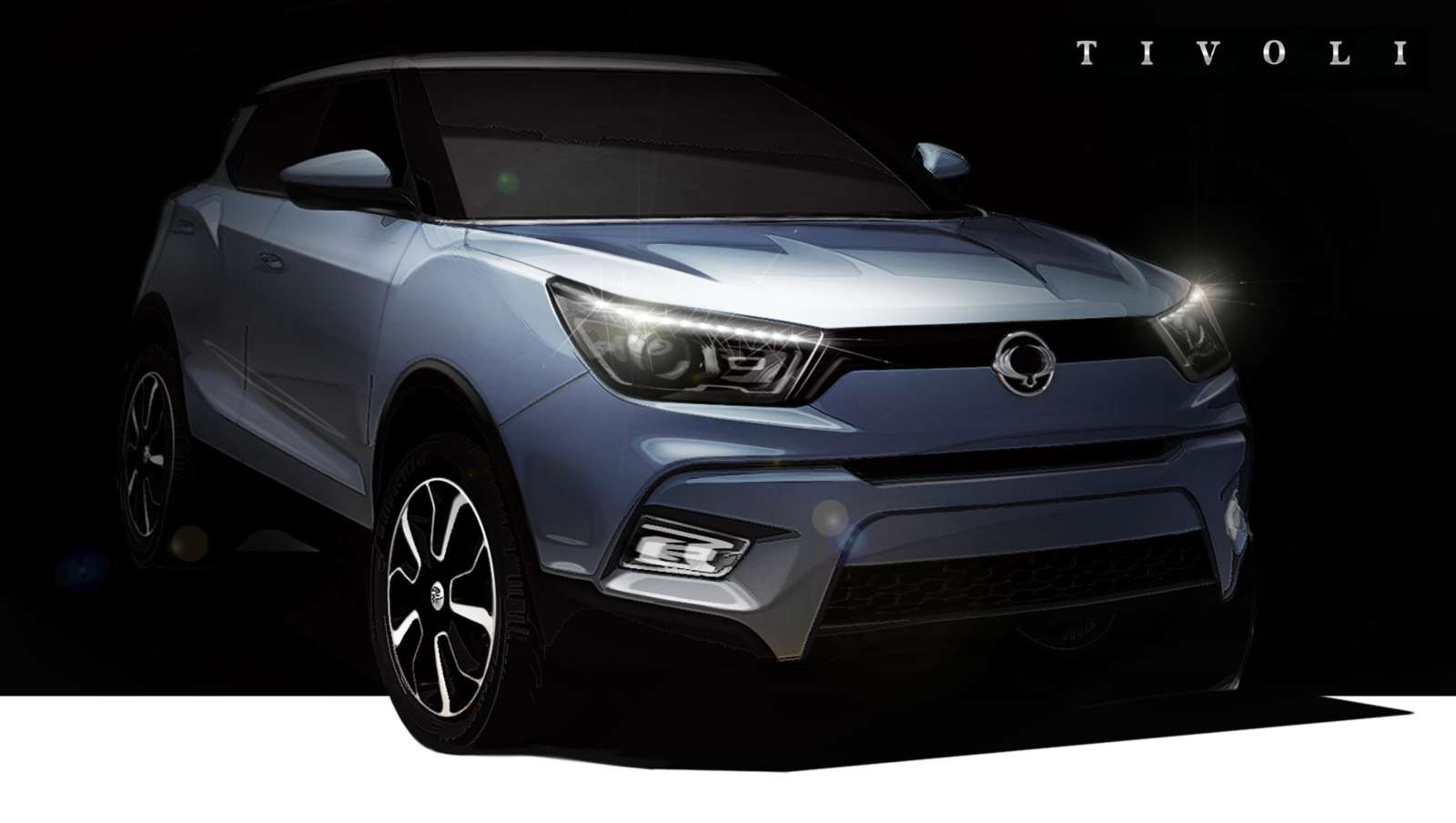 ssangyong tivoli compact suv x100 teased india launch next year motoroids. Black Bedroom Furniture Sets. Home Design Ideas