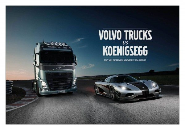 Teaser Volvo FH vs Koenigsegg One1 Race Film (1)