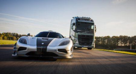 Teaser Volvo FH vs Koenigsegg One1 Race Film (4)