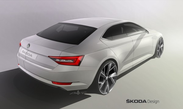 2015 Skoda Superb Vision C sketch rear