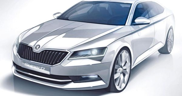 2015 Skoda Superb sketch