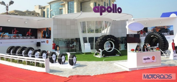 Apollo - AWL 822 - India's largest loader tyre at IMME 2014 (2)