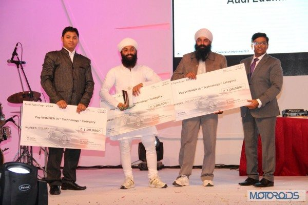 Audi India winning team in Technology Category - Audi Ludhiana