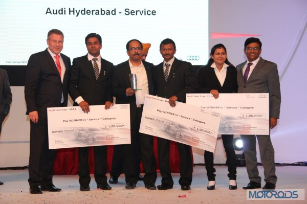 Audi India with the winning Audi Hyderabad team
