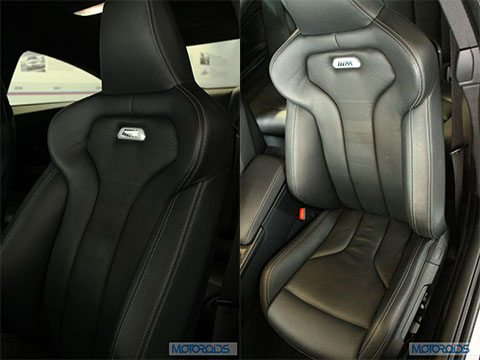 BMW M4 Front Seat