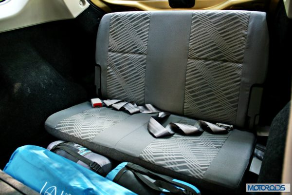 Datsun GO+3rd row seat