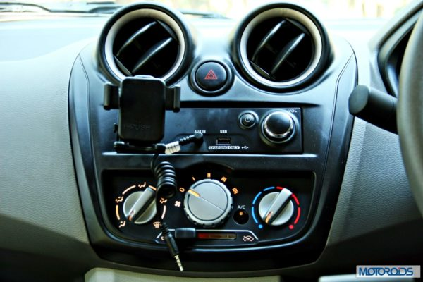 Datsun GO+audio and AC controls
