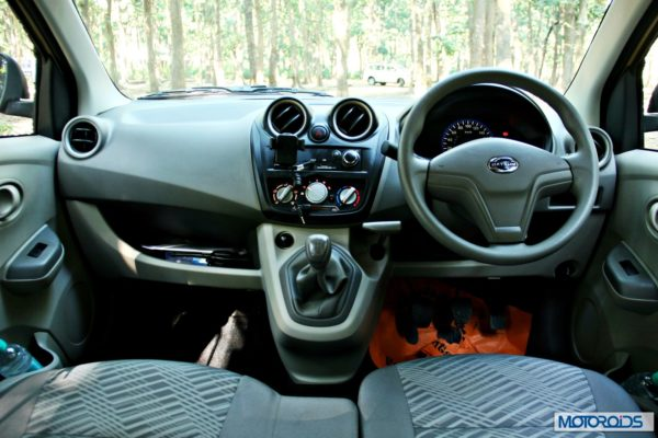 Datsun GO+dashboard view