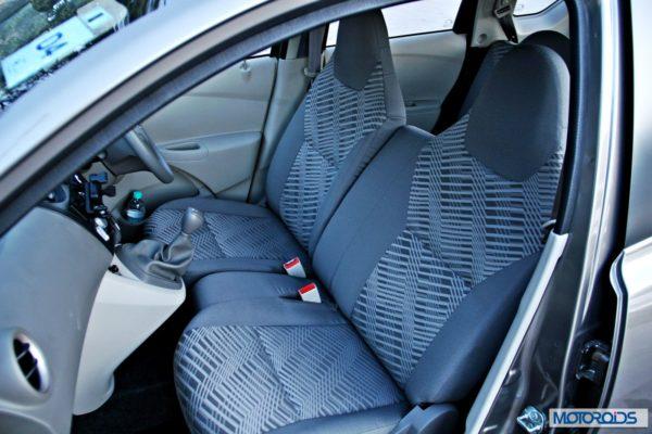 Datsun GO+front seats