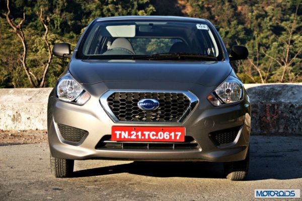 Datsun GO+head-on view