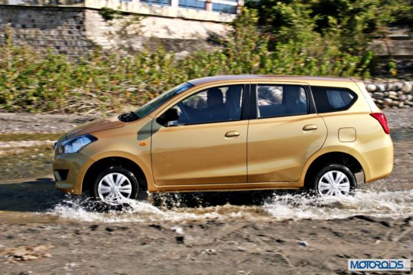 Datsun GO+side profile in water 3