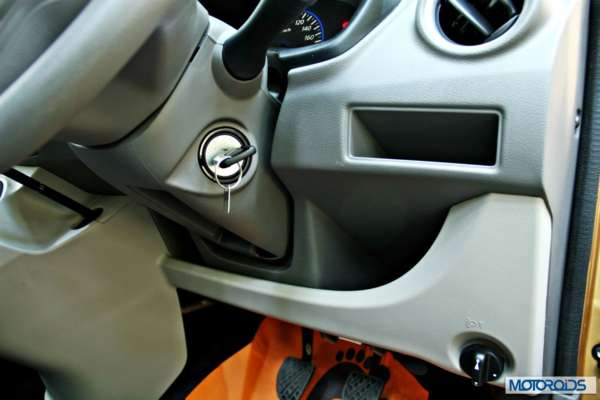Datsun GO+steering column and driver side storage