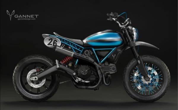 Ducati Scrambler Gannet design