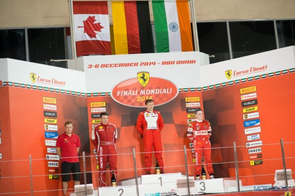 Gautam Singhania at Ferrari Mondiali, Podium finish 3