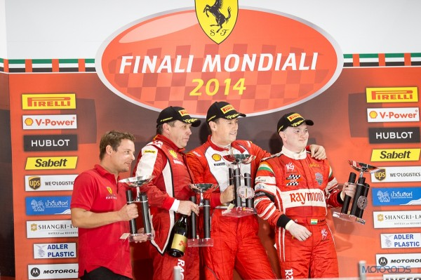Gautam Singhania at Ferrari Mondiali, Podium finish