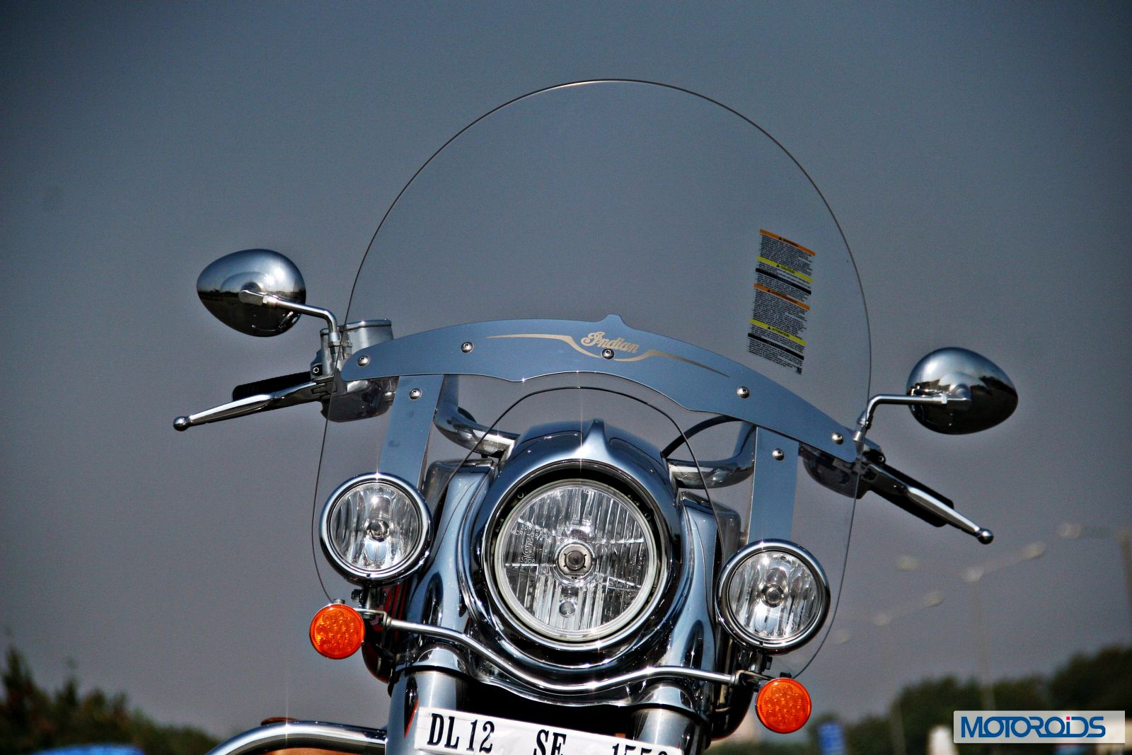 Indian Chief Vintage Review - Details - Headlights - Windscreen
