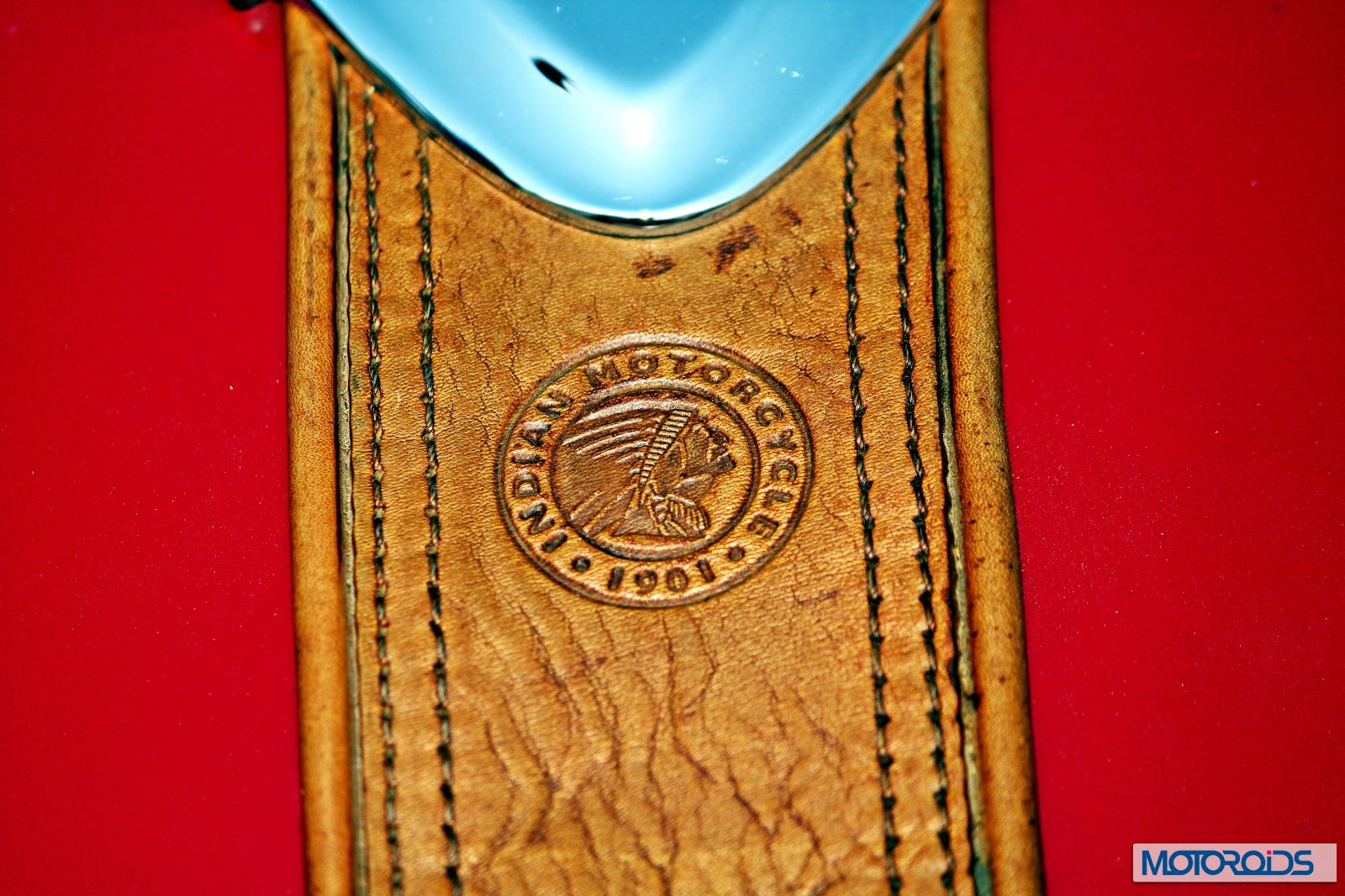 Indian Chief Vintage Review - Details - Leather Strip on Tank