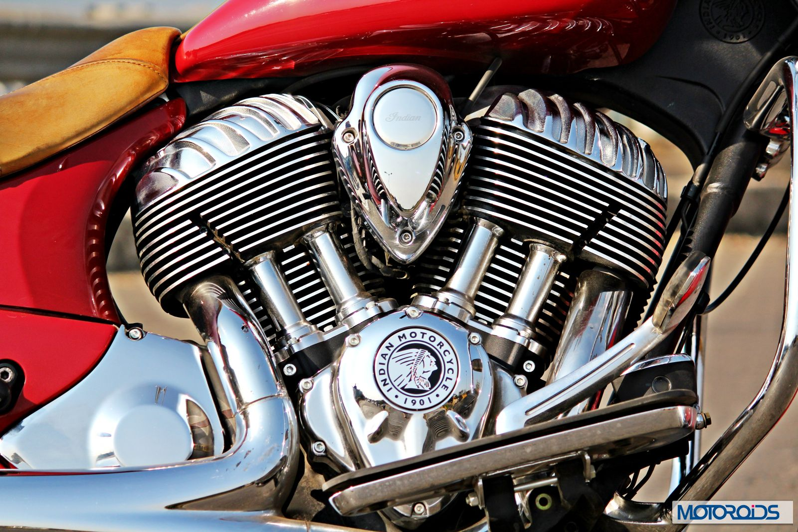 Indian Chief Vintage Review - Details - Thunder Stroke 111 Engine - Close Up