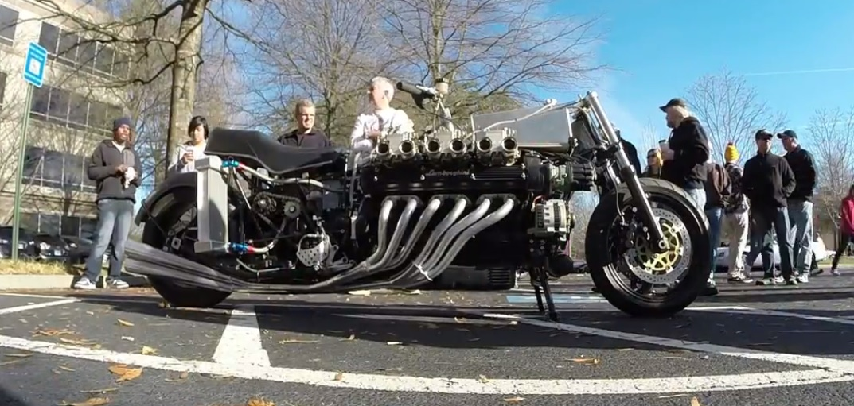 hear  custom  lamborghini powered bike motoroids
