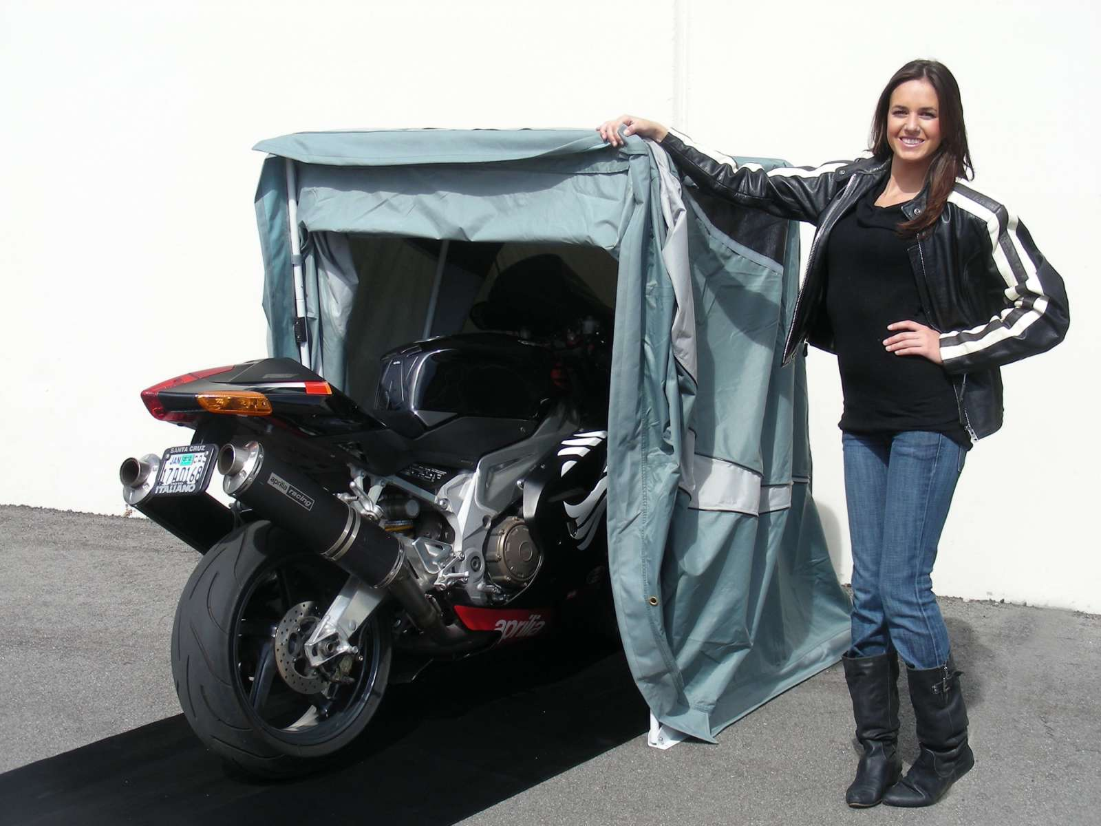 Portable Motorcycle Enclosures : Speed way motorcycle shelters a miniature weather proof