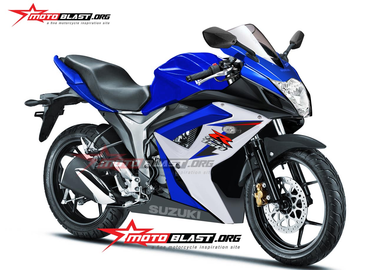 Fully Faired Gixxer 155 Gsx R 150 Rendered Coming Mid