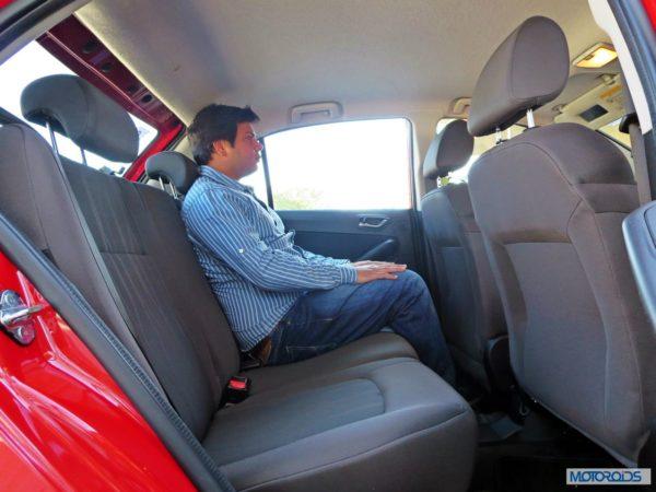 Tata Bolt rear seats