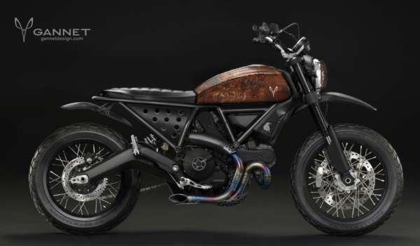 Ulfert Ducati Scrambler oxidated metal