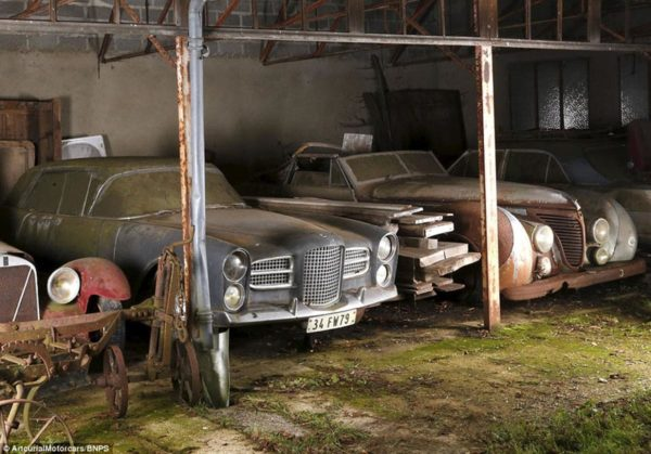 car collection discovered in french barn
