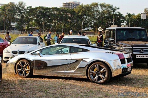 2015 Parx Super Car Show - Lamborghini Gallrdo SE chrome wrapped