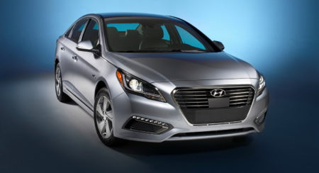 2016 Hyundai Sonata Plug-in Hybrid Electric Vehicle (PHEV), Front Exterior
