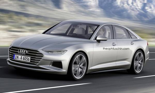 2017 Audi A6 Render rear 3-4th