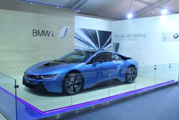 BMW i8 at India Art Fair