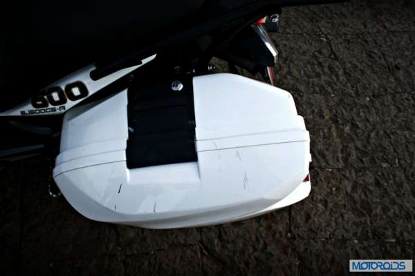 Panniers are lockable for added safety