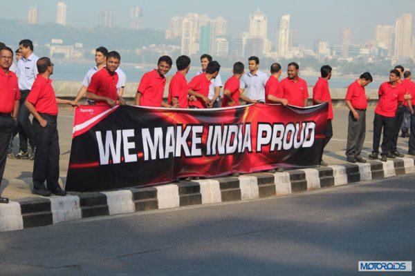 Mahindra - Production Milestone - Human Chain (4)