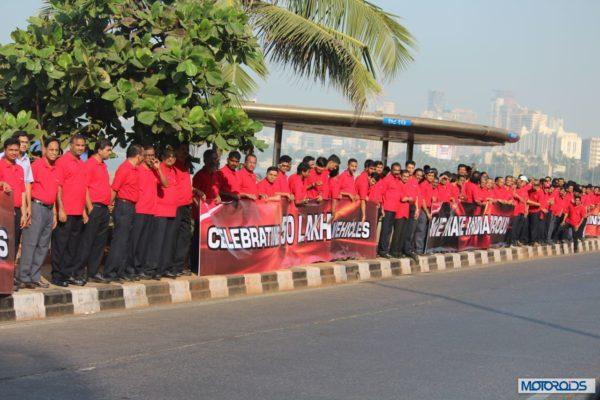 Mahindra - Production Milestone - Human Chain (5)