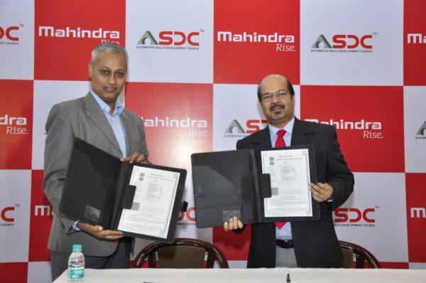 Mahindra partners with Automotive Skills Development Council