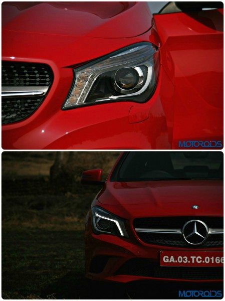 Mercedes CLA head lamps