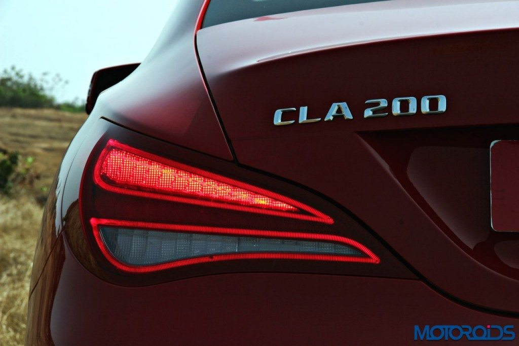 Mercedes CLA tail lamp