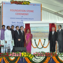Maruti Suzuki lays foundation stone of new facility in Gujarat