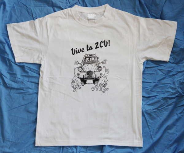 Vive la 2CV TShirt white Pic2