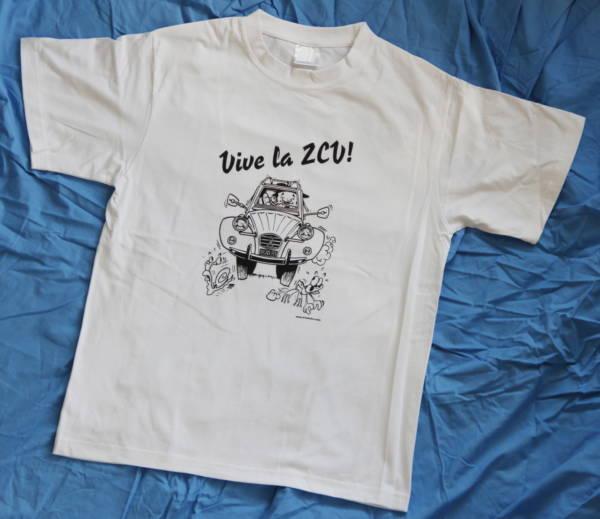 Vive la 2CV TShirt white Pic3