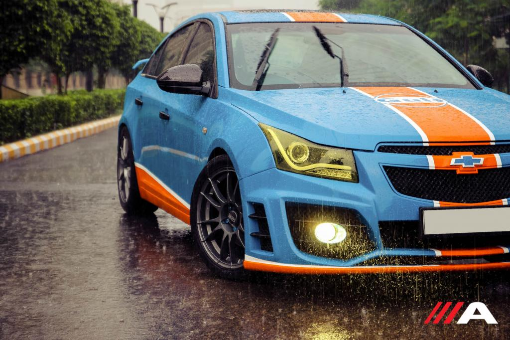 This Gulf Liveried Modified Chevrolet Cruze Finds Our